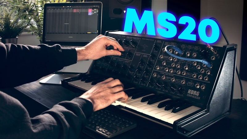 Making a trap beat using only the Korg MS-20 synth