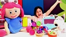 Play Doh sihirli fırın. Smarta ve Benekli için ikramlar