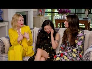 Катя Клэп берёт интервью у Кейт Бланшетт, Аквафины и Сандры Буллок