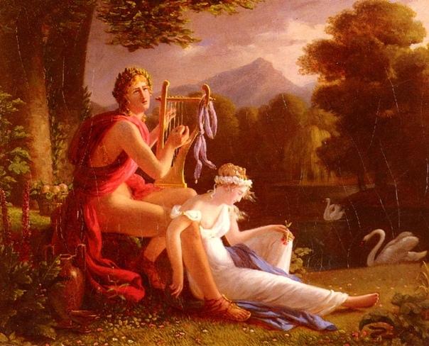 «Орфей и Эвридика 18,» Однажды у речного бога Эагра и музы неебической поэзии Каллиопы родился сын, которого назвали Орфеем. Только вылупившись, он сразу же огласил родной дом песней, от которой