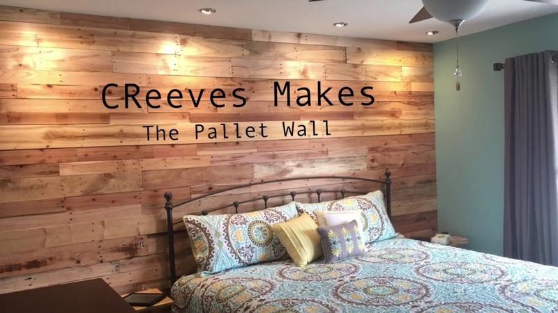 CReeves Makes The DIY Pallet Wood Wall ep007