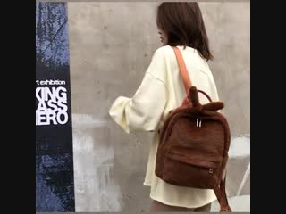 Новые женские рюкзаки Мягкие велюровые милые меховые меховые рюкзаки большой емкости Сумки для школьных сумок для девочек-подрос