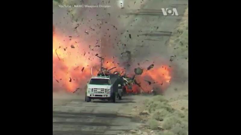 Испытания нового оружия США в пустыне Мохаве в Калифорнии