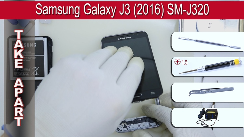 How to disassemble 📱 Samsung Galaxy J3 (2016) SM-J320 Take apart Tutorial
