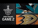 San Jose Sharks vs Anaheim Ducks – Apr. 14, 2018 | Game 2 | Stanley Cup 2018. Обзор