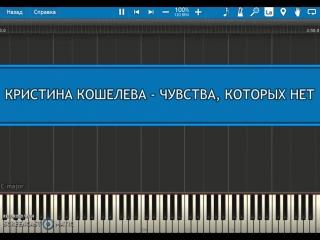 Кристина Кошелева - Чувства, которых нет (Пример игры на фортепиано) Песни на ТНТ
