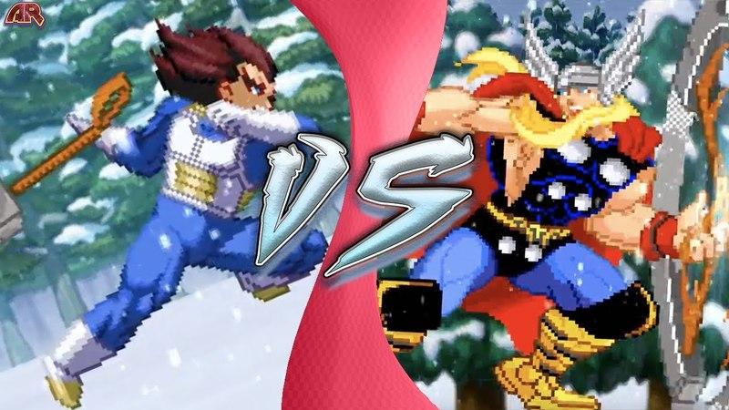 VEGETA vs THOR! (How can Vegeta Lift Thor's Hammer? Dragon Ball Super Animation) Cartoon Fight Club