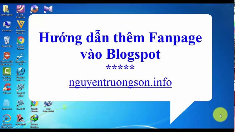 Hướng dẫn thêm Fanpage Facebook vào Blogspot