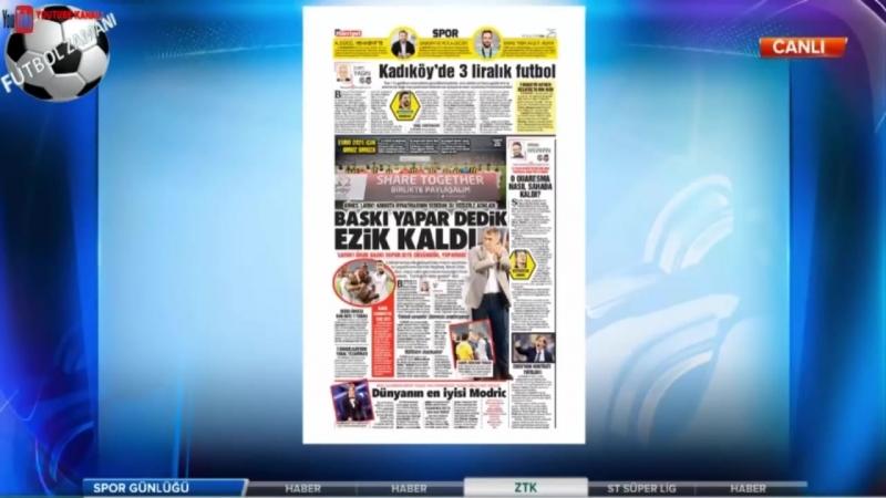 Spor Günlüğü 25 Eylül 2018 Fenerbahçe 1-1 Beşiktaş Maçı, Galatasaray Yorumları