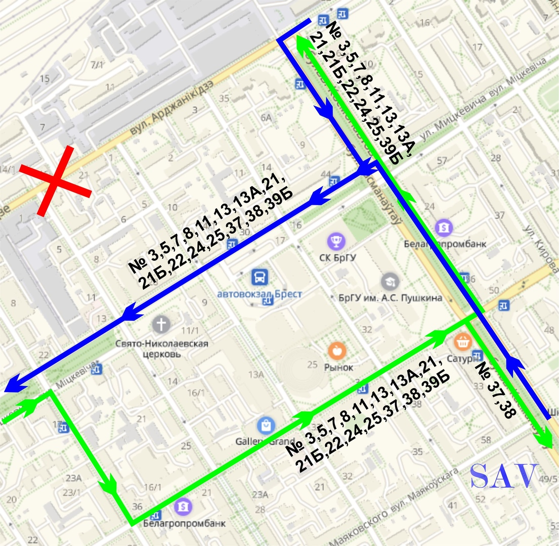 Улицу Орджоникидзе перекроют на двое суток. Как будет ходить общественный транспорт?
