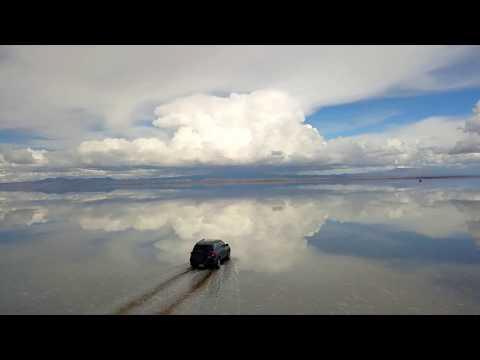 Uyuni desde el aire, drone, Bolivia