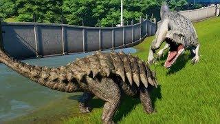 ANKYLOSAURUS MAX Vs INDOMINUS REX - Jurassic World Evolution