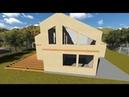 Строительство каркасного дома 3D визуализация