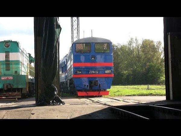 Тепловозы 2ТЭ116-732 и ТЭП70-0320 / 2TE116-732 and TEP70-0320 at Tallinn-Väike depot