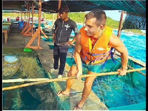 Поймал рыбу и продал её на рынке во Вьетнаме Нячанг Выполнение наказания за прогноз