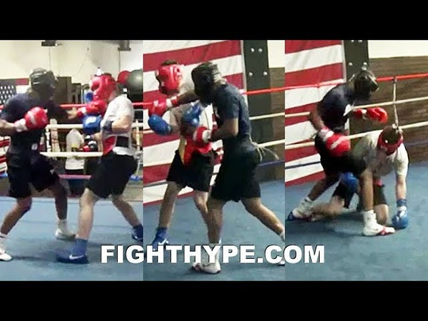 (WHOA!) DEVIN HANEY LIGHTS UP SPARRING PARTNER; PUTTING IN WORK FOR JUAN CARLOS BURGOS CLASH