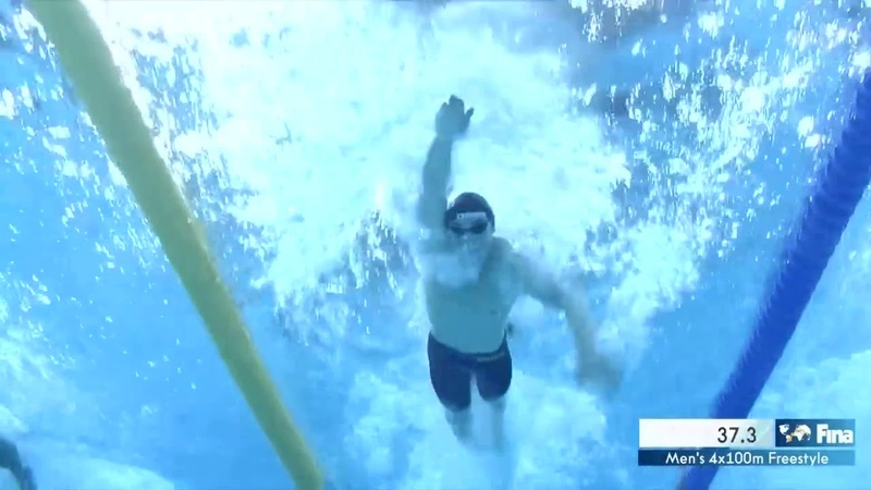 14th FINA World Swimming Championships (25m) Hangzhou (CHN) Men's 4x100m Freestyle Final