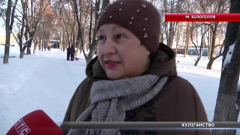 Хуліганство у Білопіллі розбиті ліхтарі та зламана огорожа