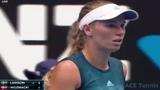 2019 Australian open Caroline Wozniacki vs Johanna Larsson