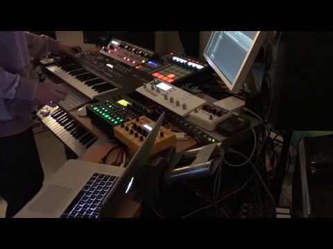 Elektron Digitakt, Analog Keys, DSI Mopho, Moog Slim Phatty Techno Jam
