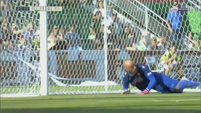 Эльче CF - Вильярреал CF Б, 1-0, Хосе Хуан отражает пенальти в исполнении Дальмау