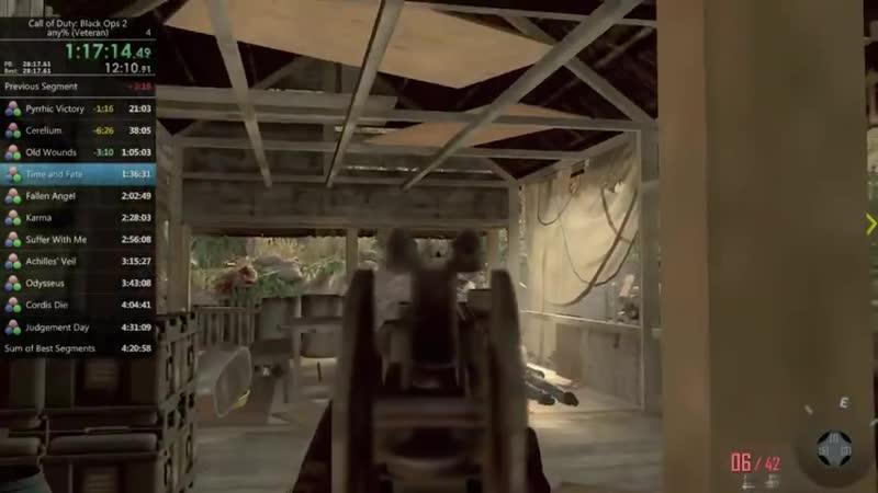 Black Ops 2 Veteran. [WR] Время прохождения 3-50-02