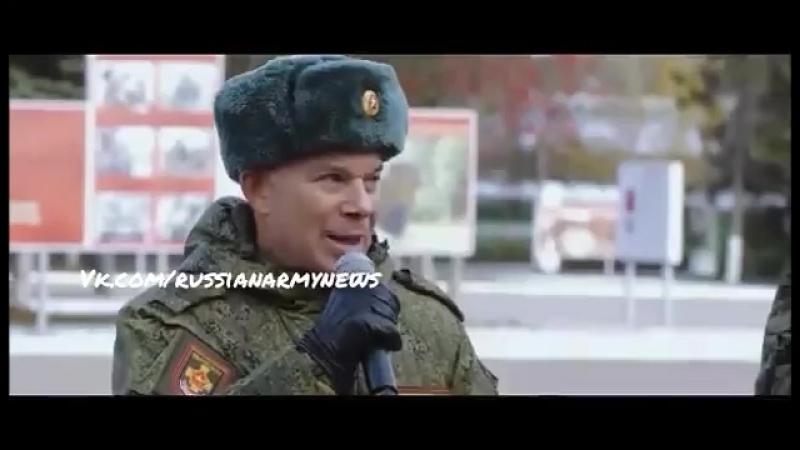 Дима Аксенов в начале клипа Комбриг 27 Гвардейской мотострелковой Севастопольской бригады Выпускник 3 батальона МВОКУ и Военно