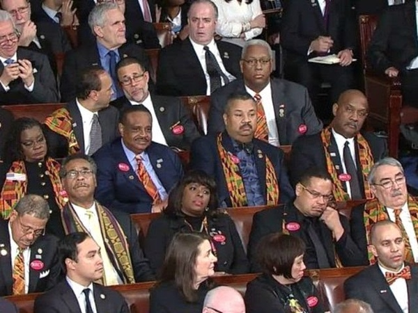 Black Uncle Tom Members of Congress dont applaud the fact the black unemployment is dropping!