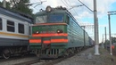 Электровоз ВЛ11 034 с контейнерным грузовым поездом станция Люберцы 1