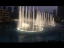 Dancing fountains and Burj Khalifa light show. Dubai.
