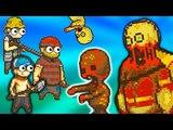 #2 Топ игра 2018 про Пиксельных Человечков Выживание в мире Зомби Апокалипсиса детский летсплей