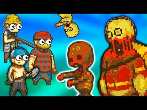 2 Топ игра 2018 про Пиксельных Человечков Выживание в мире Зомби Апокалипсиса детский летсплей