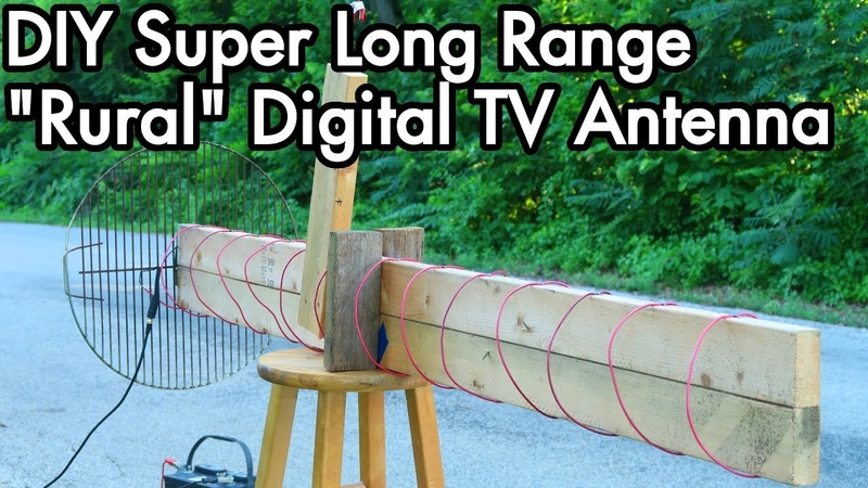 Digital TV Antenna Experiments 02 DIY Super Long Range Axial Helical Rural Antenna, TV DXing
