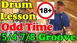 Нечётные размеры на барабанах (54, 78) Обучающий урок - Джаз Рок Фанк - Odd Time Beats Drum lesson