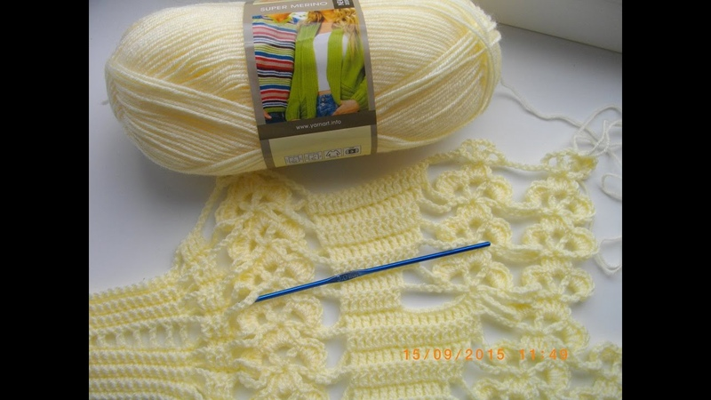 Манишка накидка крючком Часть 1 Crochet Poncho Cape смотреть онлайн без регистрации