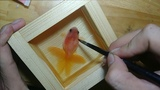 Resin Art Beautiful Goldfish Painting