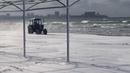Чёрное море сразу после снегопада – Анапа пляж в снегу – 16 января 2019