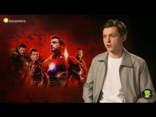 Интервью в рамках промоушена фильма «Мстители: Война бесконечности» для «Movie'n'co UK», Лондон (9 апреля 2018 года)