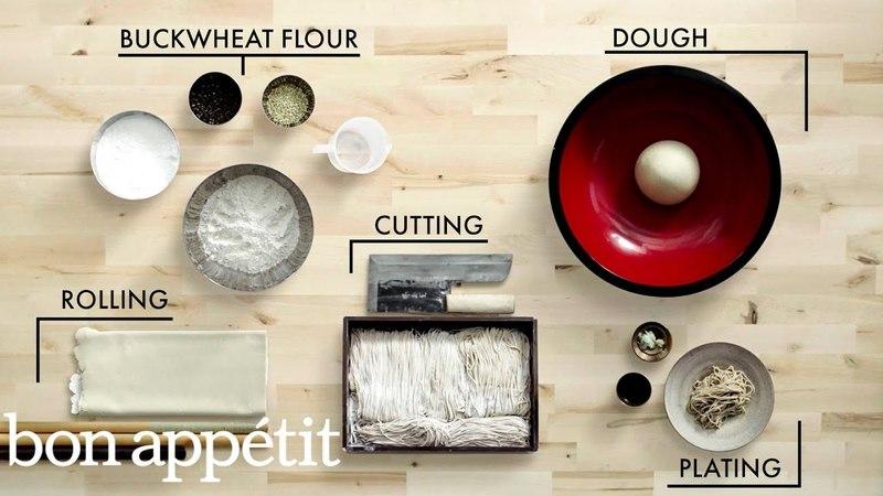 How to Make Handmade Soba Noodles | Handcrafted | Bon Appétit