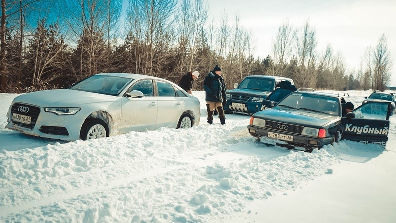 БИТВА AUDI A6 с ВНЕДОРОЖНИКАМИ! Часть 3. BMW X5 в глубоком снегу.