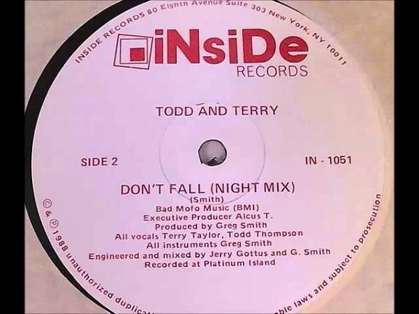 Todd And Terry - Don't Fall (Night Mix)