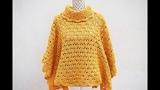 Poncho o capa de mujer a crochet MAJOVEL muy f