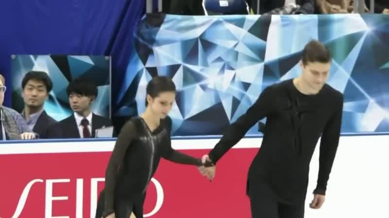Наталья Забияко и Александр Энберт Произвольная программа World Team Trophy 2019