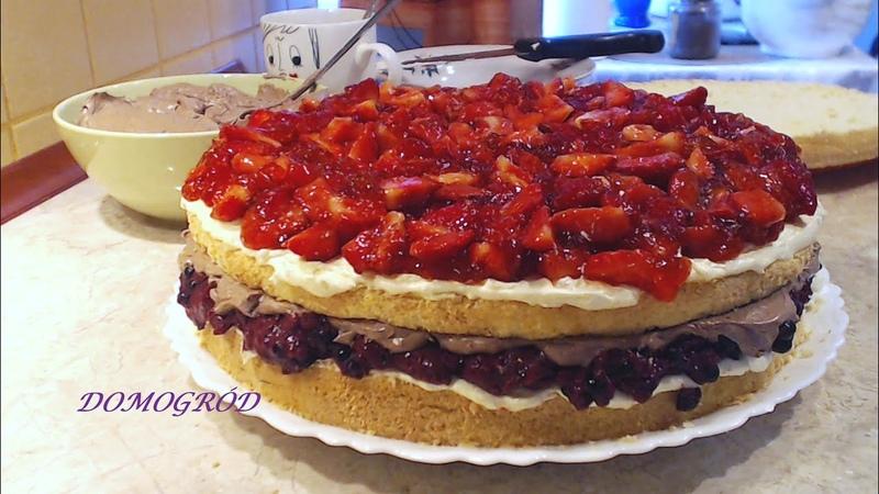 Tort truskawowo-jagodowy na urodziny jak zrobić
