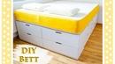 Ikea Hack - Bett bauen - Einfaches DIY Tutorial für ein Plattform Bett mit viel Stauraum
