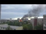 Я снимаю видео про пожар, город Орёл, улица Герцена, 12.05.2018