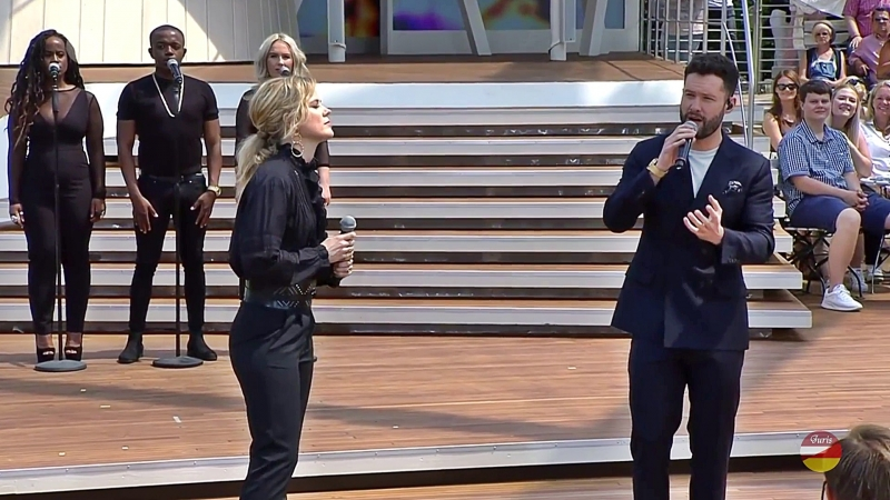 Calum Scott und Ilse DeLange «You Are The Reason» ZDF-Fernsehgarten 21.05.2018