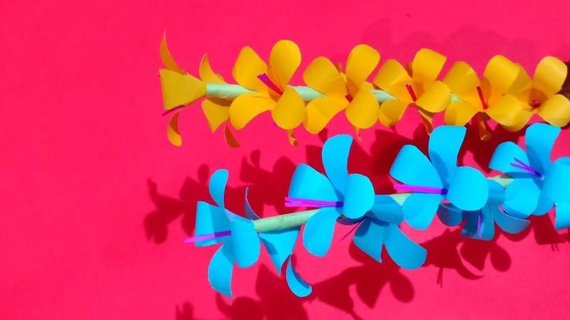 How to Make Beautiful Paper Stick Flower Decor Craft Ideas Handcraft for Home Creative Art