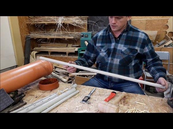 Режем черенки и шаблоны из мелких пластиковых труб