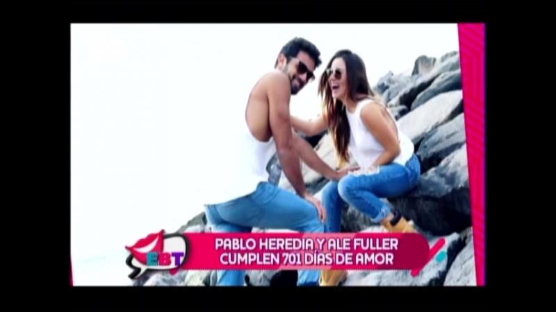 Pablo Heredia y Ale Fuller cumplen 701 dias de amor